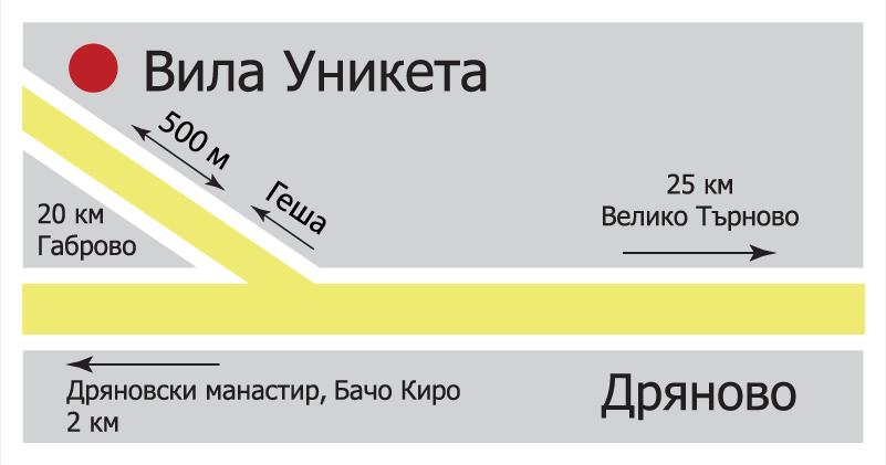 Карта Вила Уникета